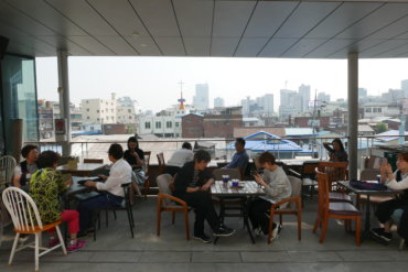 Cafes and small restaurants are rendering the area more attractive for visitors.